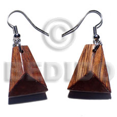 dangling 20mmx17mm wooden earrings - Wooden Earrings
