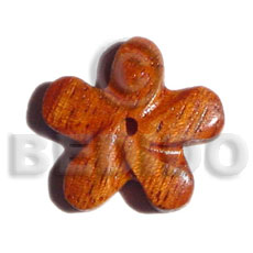 Bayong wood flower 35mm Wooden Pendant